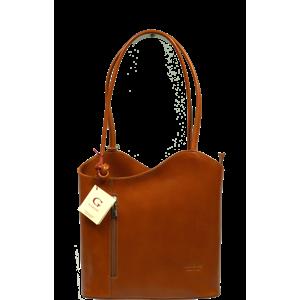 Talianská kožená kabelka Clarise Camel