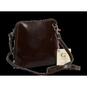 Talianská kožená kabelka Grana Cafe