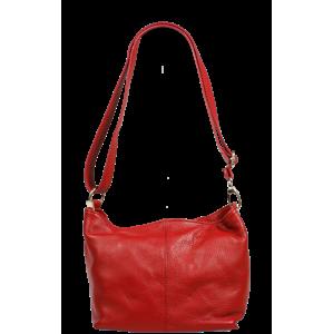 Červená kožená kabelka Batilda Rossa