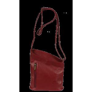 Talianská kožená kabelka Angola Rossa Scura