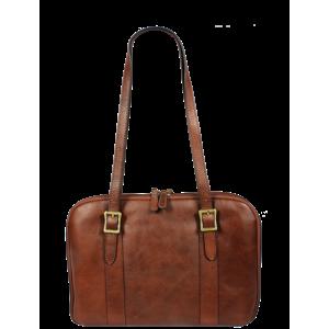 Talianska kožená taška Placida Piccola Marrone